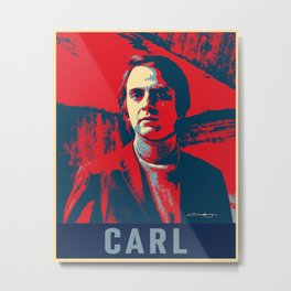 Carl Sagan Art Metal Print