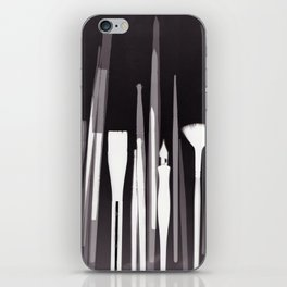 Paintbrush Photogram iPhone Skin