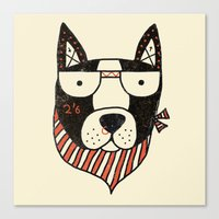 dog Canvas Prints featuring Dog by Farnell