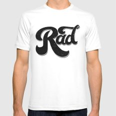 Rad White LARGE Mens Fitted Tee