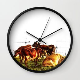Cow detail 1 Wall Clock