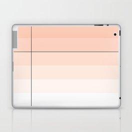 Minimal Abstract Peach Orange Stripes with Black Line Laptop & iPad Skin