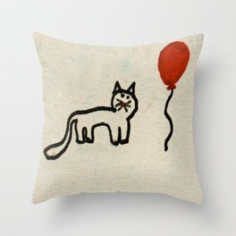 Maisy & Balloon Throw Pillow