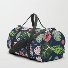 Tropical leaves Blue paradise #homedecor #apparel #tropical Duffle Bag