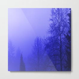 Into the Blue Metal Print