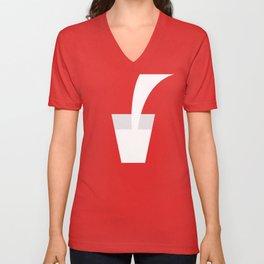 Glass of Milk Unisex V-Neck