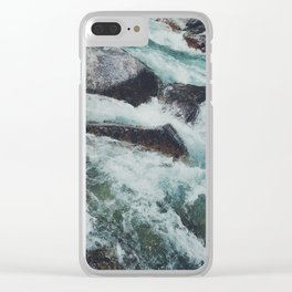 Glacial Rapids Clear iPhone Case