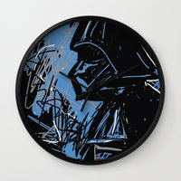 darth Wall Clocks featuring Darth by Rimadi