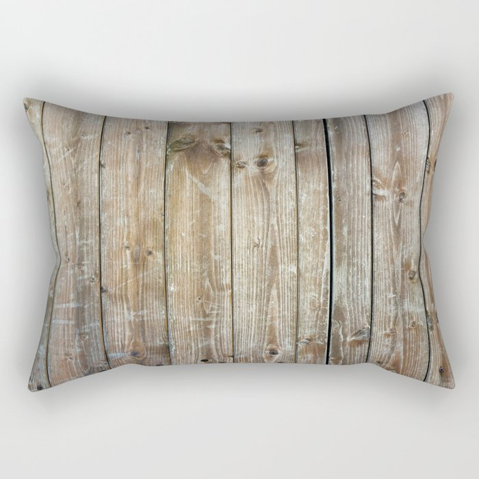 Rustic Wooden Plank Texture Rectangular Pillow