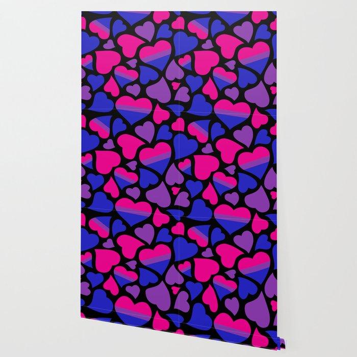 Bi Pride Hearts Wallpaper