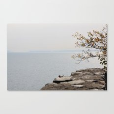 Along the North Shore Canvas Print