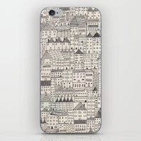 rubyetc iPhone & iPod Skins featuring city by rubyetc