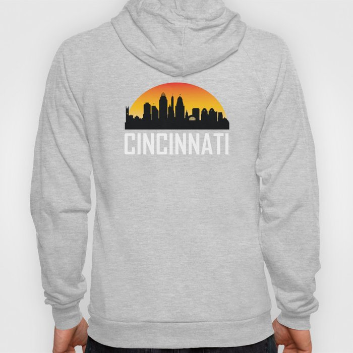 Sunset Skyline of Cincinnati OH Hoody