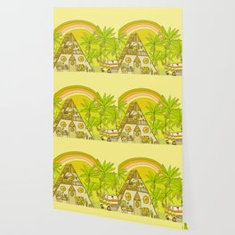 a frame simple living // banana pancakes // retro surf art by surfy birdy Wallpaper