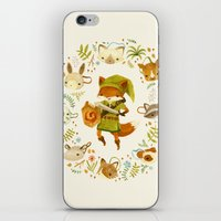 kids iPhone & iPod Skins featuring The Legend of Zelda: Mammal's Mask by Teagan White
