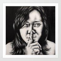 silent Art Prints featuring silent by dorilozada
