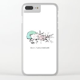 Daily Distortions Clear iPhone Case