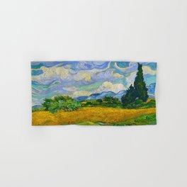 Wheat Field with Cypresses Vincent van Gogh Oil on canvas 1889 Hand & Bath Towel
