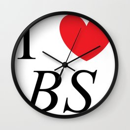 I heart BS Wall Clock