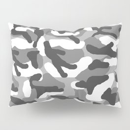 Grey Gray Camo Camouflage Pillow Sham