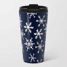SOWFLAKES - BLUE Travel Mug