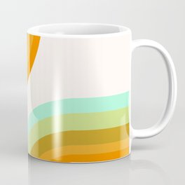 Dy-no-mite - retro throwback 70s style vibes 1970s art decor minimalist surfer Coffee Mug