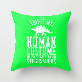 Stegosaurus Dinosaur Gift Skull Skeleton Throw Pillow