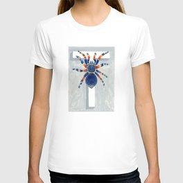 T is for Tarantula  Letter Alphabet Decor Design Art Pattern T-shirt