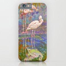 Pink Flamingos Slim Case iPhone 6s