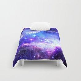 Galaxy Nebula Blue Comforters