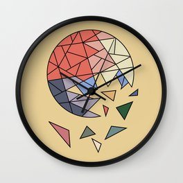 CONSTANT EVOLUTION (abstract geometric) Wall Clock