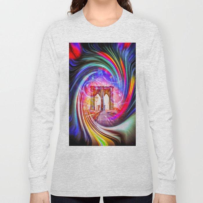 New York Brooklyn Bridge 2 Long Sleeve T-shirt