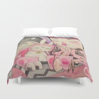 soul eater Duvet Covers featuring Noodle Eater by lOll3