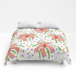 Tropical Fiesta Flowers Comforters