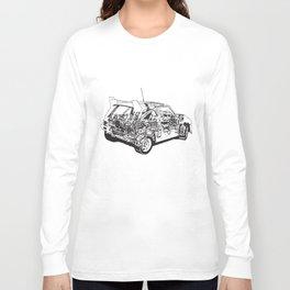 Metro 6R4 Diagram Mens Rally Car Gift For Dad Birthday Car T-Shirts Long Sleeve T-shirt