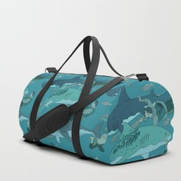 Sharks Pattern Duffle Bag