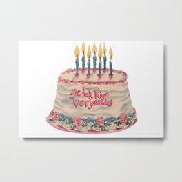 gelukkige verjaarsdag  Afrikaans language happy birthday Metal Print