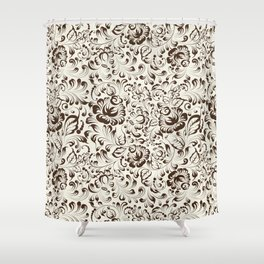 Floral seamless pattern in Gzhel style Shower Curtain