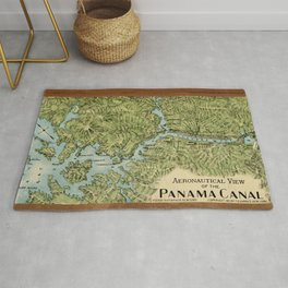 Vintage Map of The Panama Canal (1911) Rug