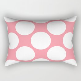 Polka Dots Pink Rectangular Pillow
