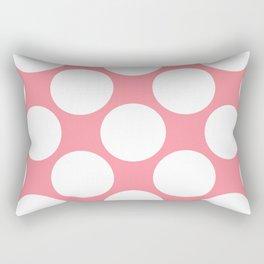 Polka Dots Pink Rectangular Pillow