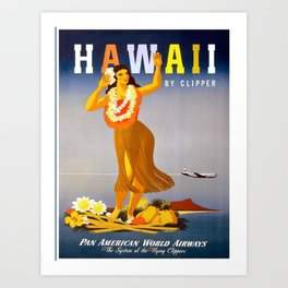 Vintage poster - Hawaii Art Print