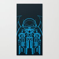 robot Canvas Prints featuring Robot by Martin Laksman
