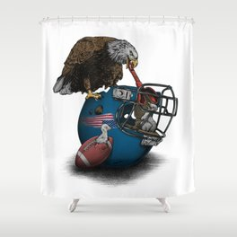 Wild American Football Shower Curtain