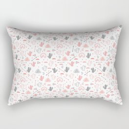 cute cacti in the desert. Rectangular Pillow