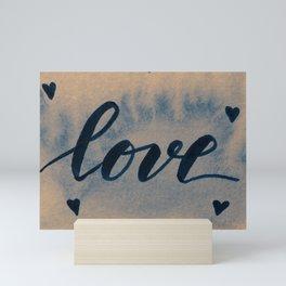 Valentine's Day Watercolor Love – neutral Mini Art Print