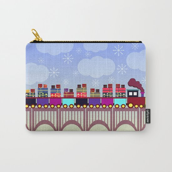 A train with Christmas gifts Carry-All Pouch