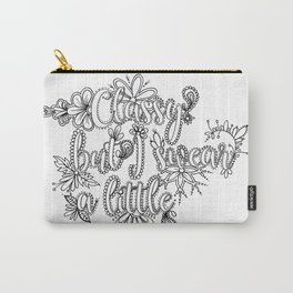 Classy But I Swear A Little Adult Coloring Design, Funny Coloring Design Carry-All Pouch