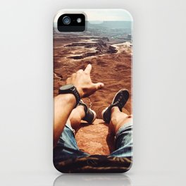 on top of canyonalnds iPhone Case