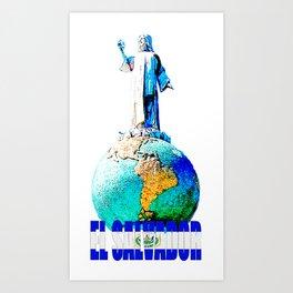 El Salvador del mundo Art Print